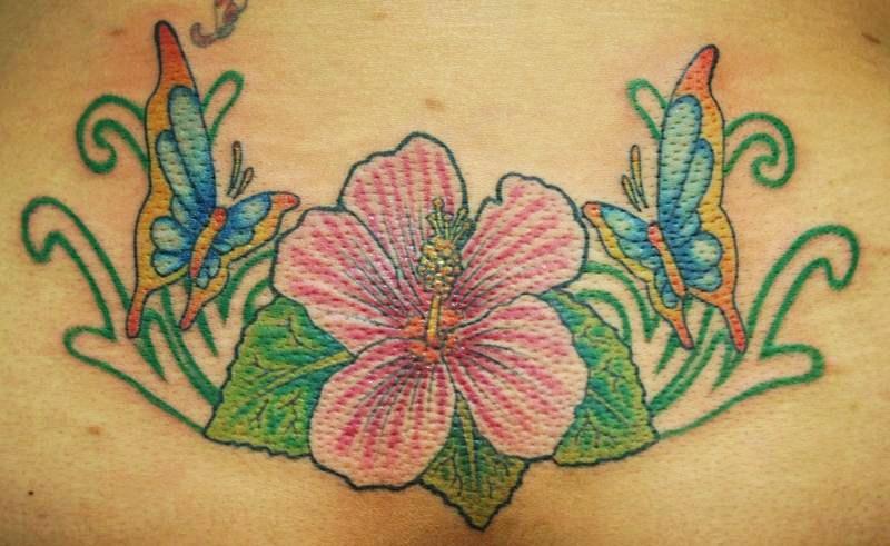 Lower Back Tattoo Headless Hands Custom Tattoos