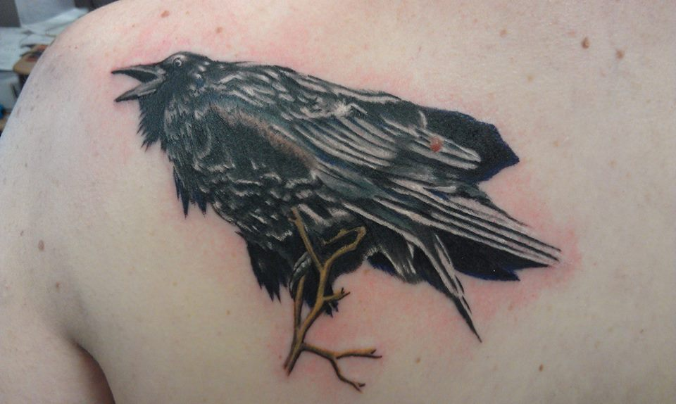 Raven tattoo headless hands custom tattoos shop kansas city area