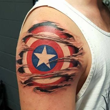 captin america shield tattoo