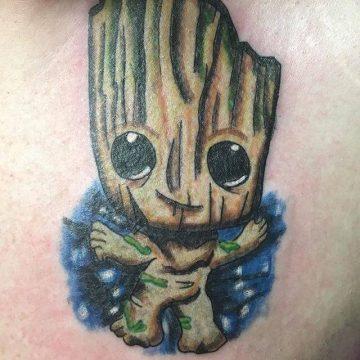 babby groot tattoo